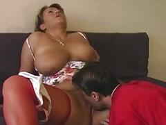 old & young - Fucking my chubby & busty mom in stockings